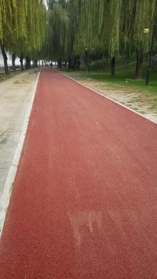 北京顺义健康主题公园彩色沥青项目